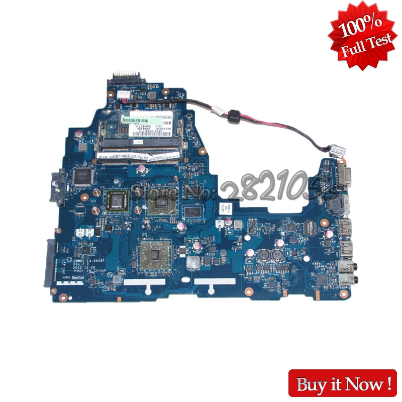 NOKOTION PWWBE LA-6846P Laptop Motherboard For Toshiba Satellite C660 C660D MAIN BOARD K000124450 EME250 CPU onboard DDR3 nokotion h000064160 main board for toshiba satellite nb15 nb15t ma10 laptop motherboard with n2810 cpu onboard
