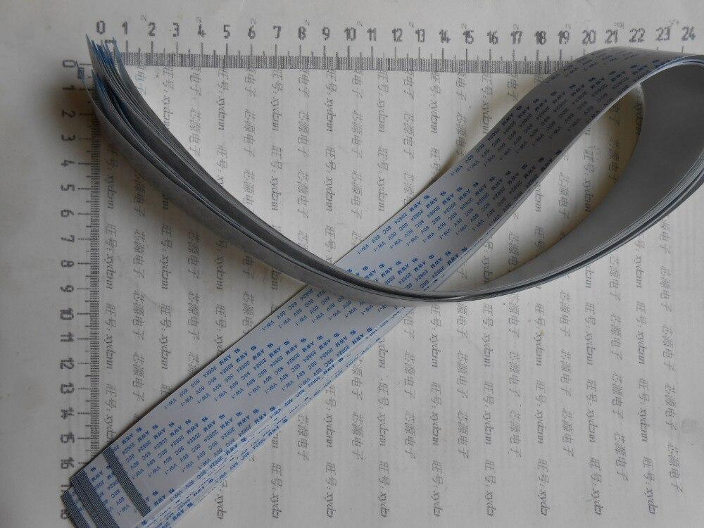 Wzsm novo passo 0.5mm 0.5mm espaçamento 40pin 40p comprimento 700mm 1500mm para a frente ffc fpc flexível cabo plano frete grátis