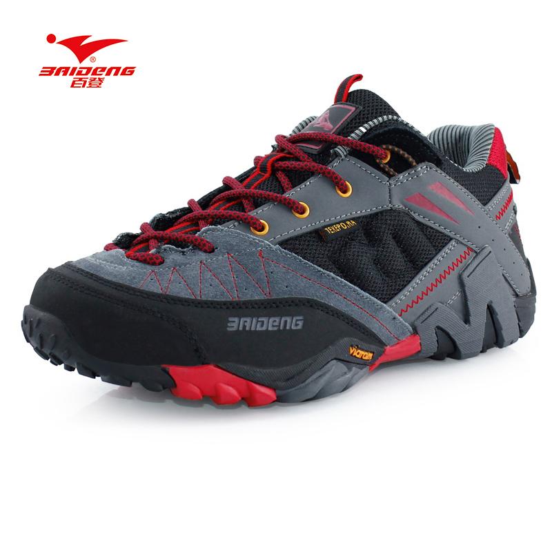 Prix pour Nouvelle marque baideng toutes les saisons hommes randonnée chaussures respirant camping chaussures 3 couleurs en cuir escalade chaussures zapatos de senderismo
