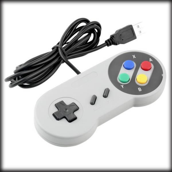 Prix pour Par dhl ou ems 50 pièces Rétro Super pour Nintendo SNES USB Controller pour PC pour MAC Contrôleurs SCELLÉ