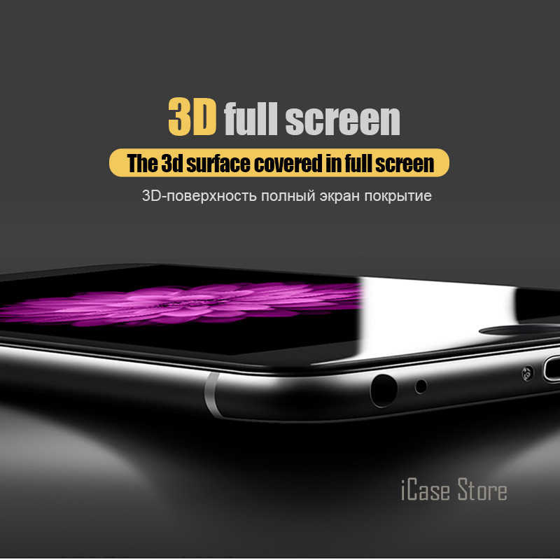 واقي للشاشة ثلاثي الأبعاد من الزجاج المقسى لهاتف آيفون 7 6 6S Plus واقي للشاشة لهاتف آيفون 6 6S