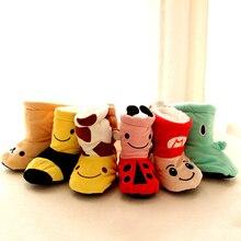 1pair Baby Cotton Shoes Žiema stora Šilta kūdikiams batai Batai Merginos Merginos Naujagimis Pirmoji vaikščiojimo mažyliu berniukų batų 0-1 metų