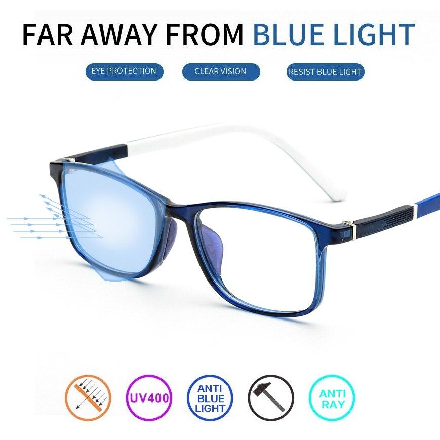 Vazão TR90 Óculos de Computador Homens Mulheres Jovens Anti Luz Azul Lente  Anti Scratch Reflexivo Ray 6d72ac2e1c