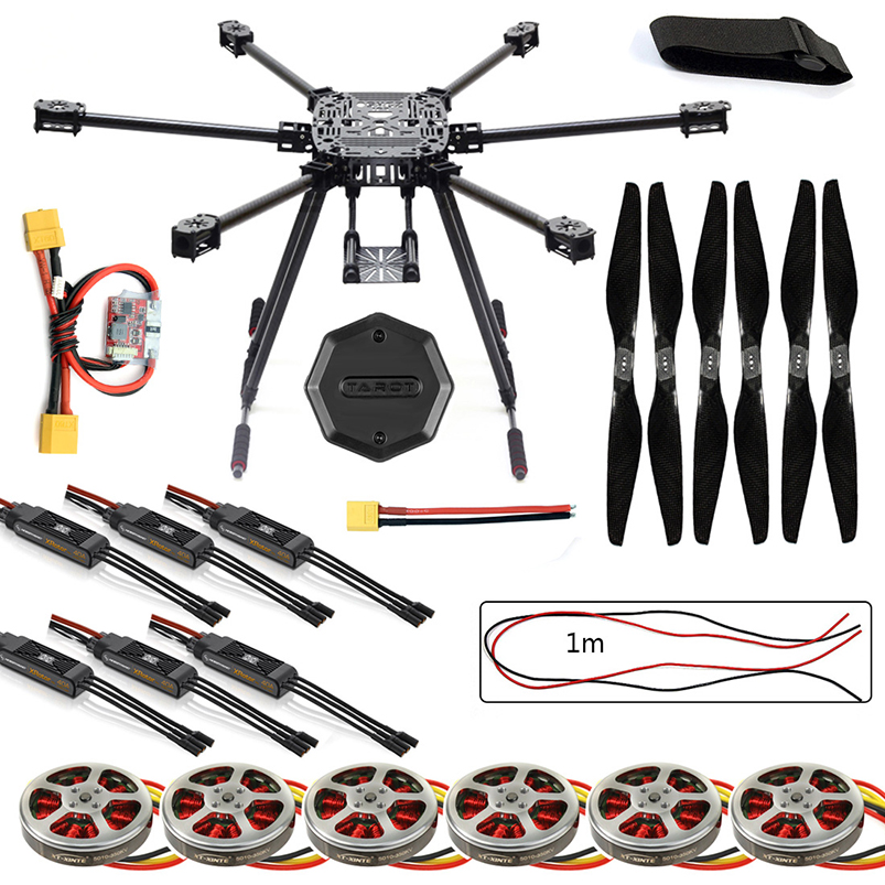 ZD850 Frame Kit with Landing Gear +Hub 350KV Brushless Motor 40A ESC 1555 Propellers For RC DIY FPV Aircraft Hexacopter zd850 full carbon fiber frame kit with unflodable landing gear foldable arm 6 axle hub set for diy fpv aircraft hexacopter