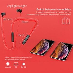 Image 5 - NILLKIN écouteurs Bluetooth sans fil, casque découte avec bandeau pour le cou, casque magnétique en métal, écouteurs, jeu de course, 5.0
