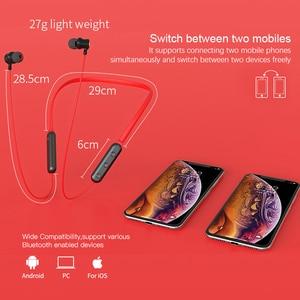 Image 5 - NILLKIN true wireless Bluetooth earphone 5.0 neckband headphone microphone Metal Magnetic Headset Earbuds Gaming Running sport