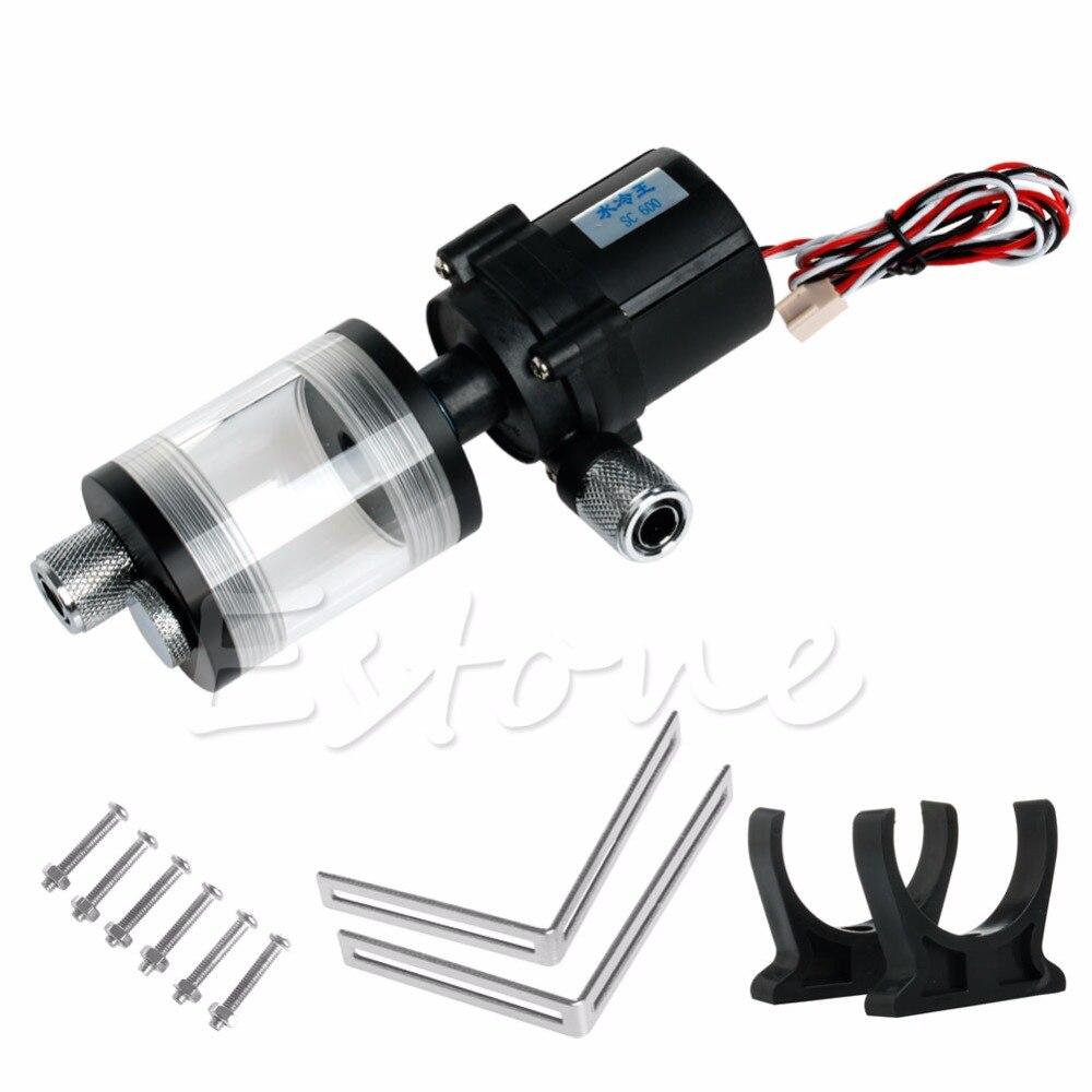 все цены на 60mm Cylinder Water Tank + SC600 Pump Computer Water Cooling Radiator Set - L059 New hot онлайн