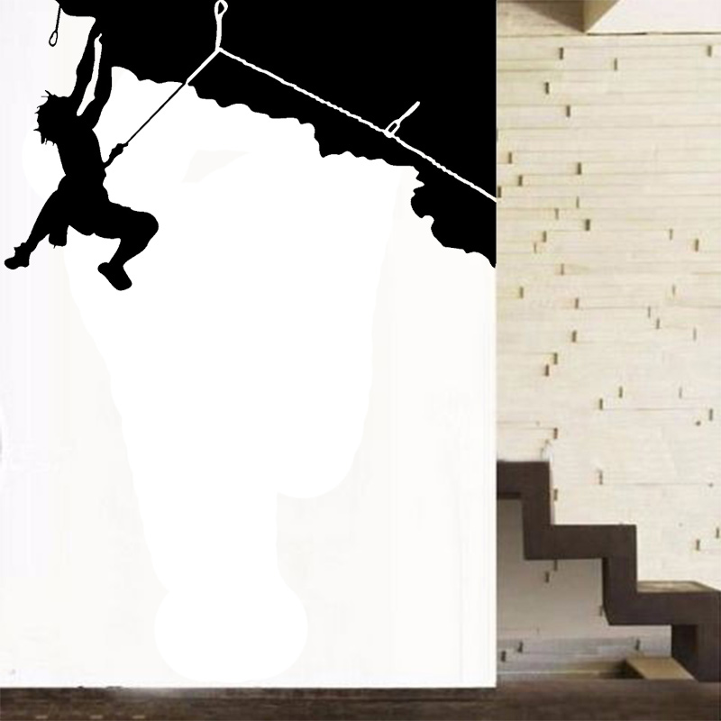 Klettern design sport serie vinyl removable wandaufkleber Home shop dekoration wandaufkleber wandtattoos...