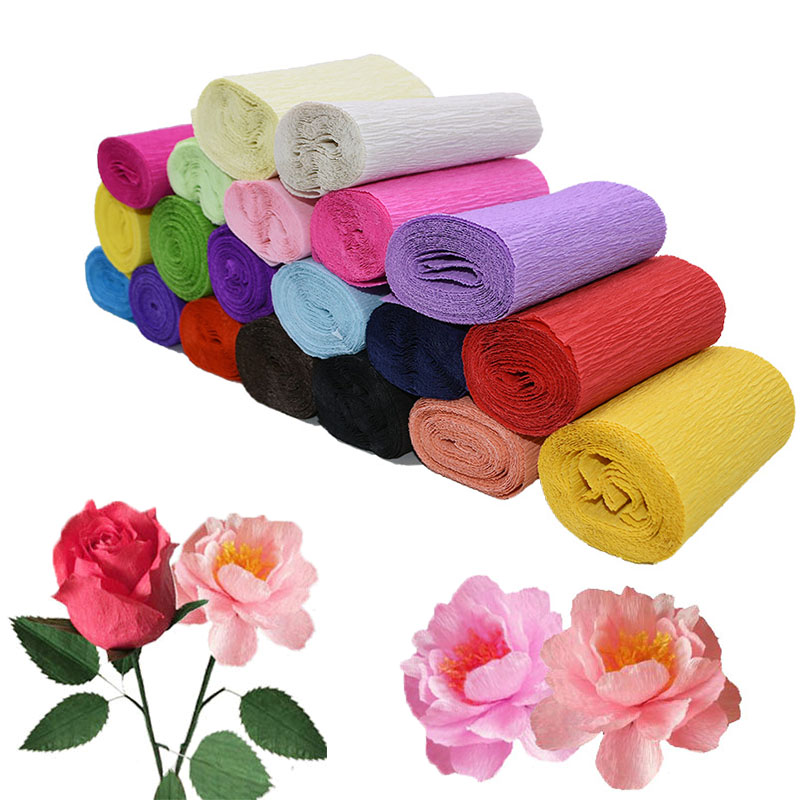 250*10cm Origami Crepe Paper DIY Craft Wrinkled Paper Roll for Wedding Party Decoration Flower Wrapping Gifts Packing Material 7