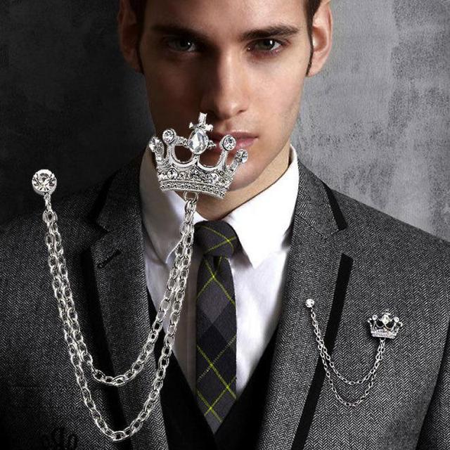 Donne E Uomini Spille Crystal Crown Regina Corpetti Donne Cappelli Sciarpa del Hijab Pin Spilla Del Vestito Vestiti Fibbie di Strass Spilla