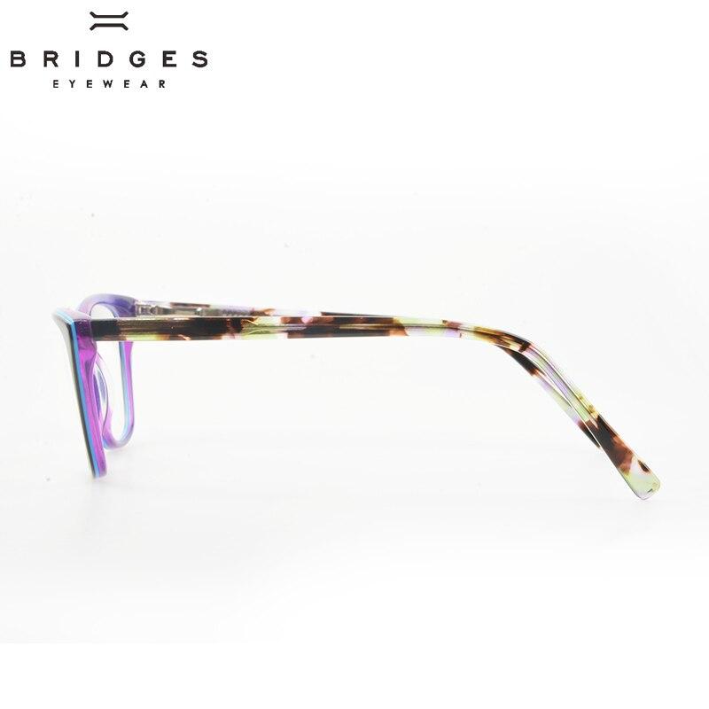 BRIDGES EYEWEAR Women Stylish Brand Designer Acetate Optical Glasses - Kläder tillbehör - Foto 3