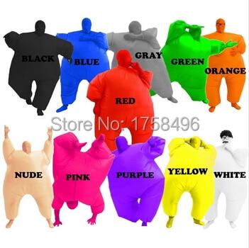 Traje adulto Traje inflable Trajes Blow Up Azul Verde Rojo, Púrpura, Color rosado, Cuerpo completo, Fiesta de Navidad, Traje de cosplay Mono