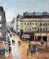High Quality Street Oil Painting Rue Saint Honore Afternoon Camille Pissarro Artwork Hand Painted No Frame