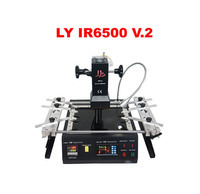 LY IR6500 V.2 infrarouge BGA station de reprise plus grand préchauffer zone 240*200mm USB port bas 2 pc ventilateur PCB jigs 6 pcs