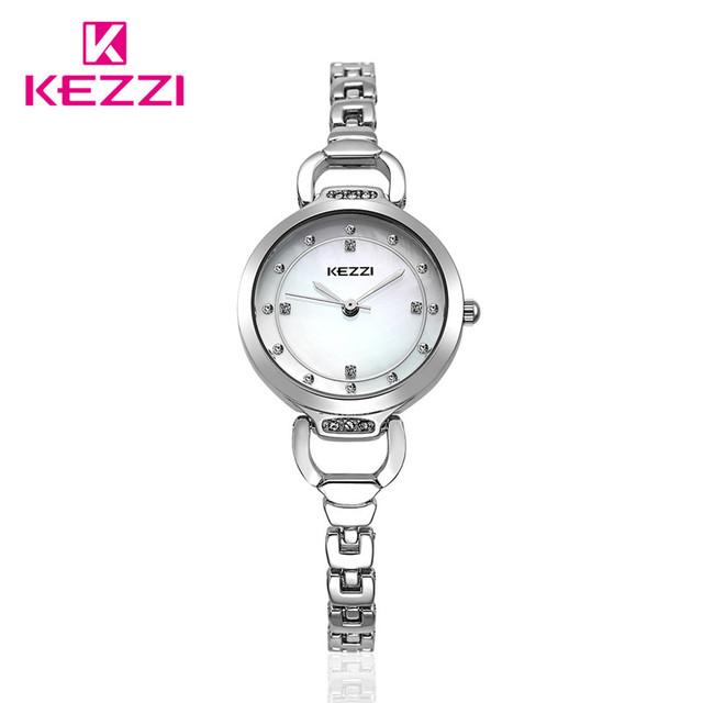 100% KEZZI  top brand luxury women quartz-watch stainless steel ladies Analog bracelet watch women montre femme de clock kw-1488