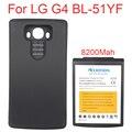 Alta capacidad 8200 mah batería batteria reemplazo amplió la batería para lg g4 bl-51yf + negro volver funda protectora para lg g4