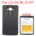 High Capacity 8200Mah Replacement Extended Battery Batteria For LG G4 BL-51YF Battery + BLACK Back Protective Case For LG G4