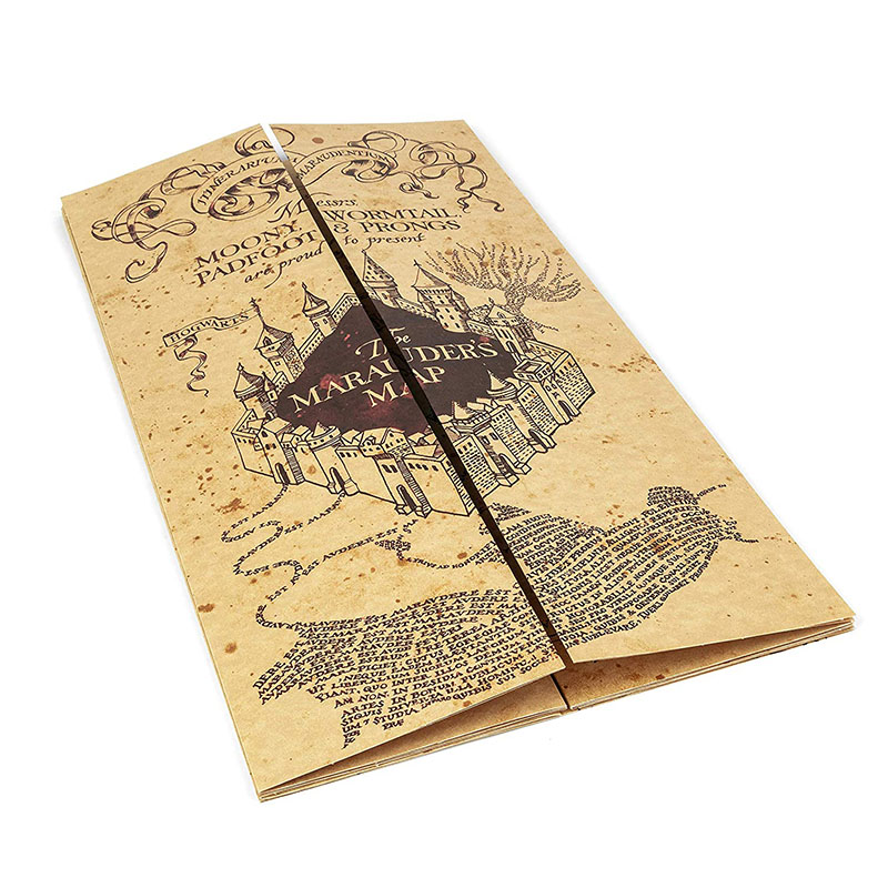 Harri Poter 77cm*22cm Marauder's Map Christmas Gifts Action Harried Map Toys For Children Birthday Present Or Student Gift