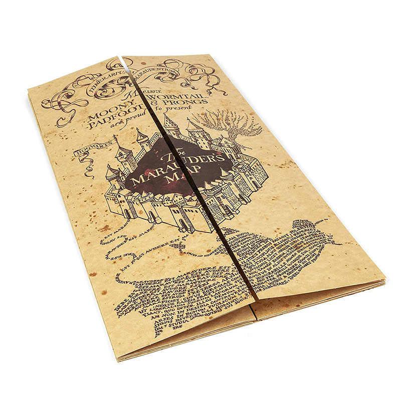هاري الفيلم خريطة النهاب خريطة Hogwart لايف نقطة خريطة Hp الملصقات Hogwart اكسبرس تذكرة و فارس حافلة تذكرة