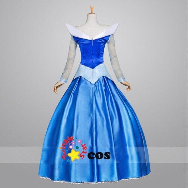 Лидер продаж года синий фильм Спящая Красота принцессы Авроры Платье для косплея Для женщин костюм для Хэллоуина - Цвет: Синий