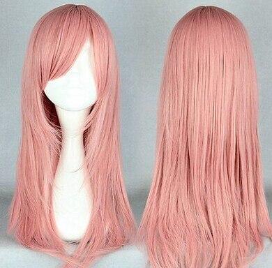 Parrucca perruque Trasporto libero> di Nuovo Modo Anime Hitman Reborn Bianchi Cosplay Parrucca Haar Perücke Rosa delle donne capelli peruca regina