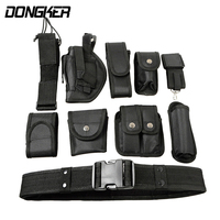 10 In 1 Outdoor Multifunction Tactical Belt Security Police Guard Utility Kit Nylon Waist Belt System