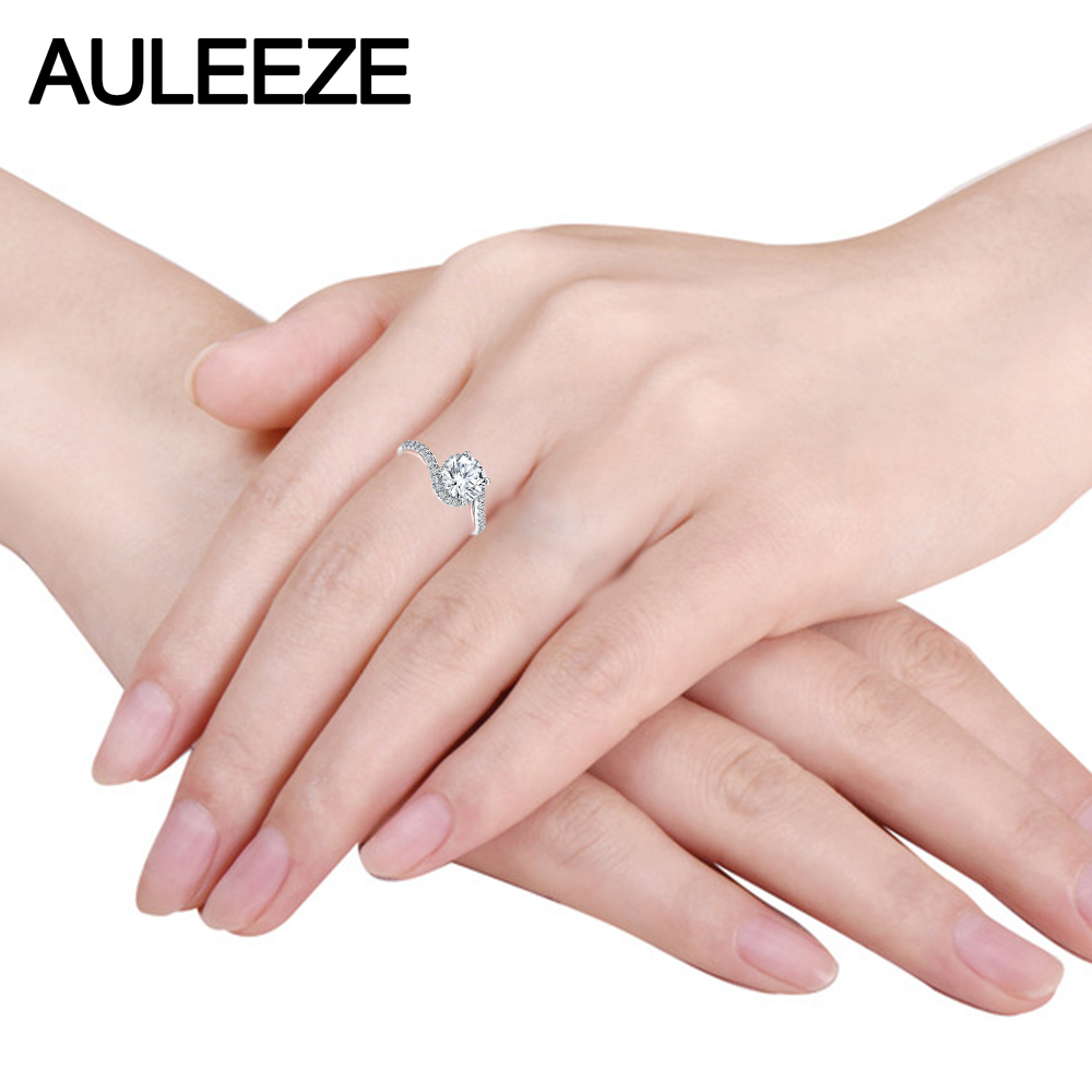 Unique Alice 14K Two Tone Gold Twist Band 2 Carat Round Cut Lab ...