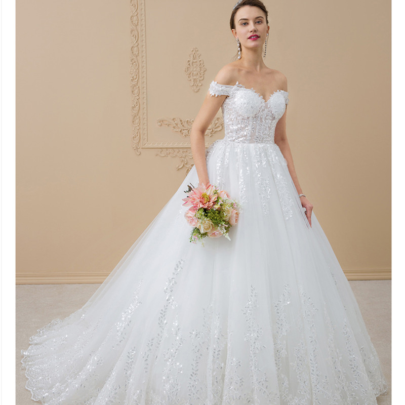 LAN TING เจ้าสาว A-Line - ชุดแต่งงาน