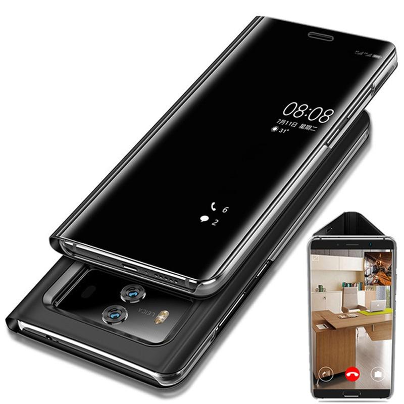 Pour Huawei P20 Pro Smart Flip Cas pour Huawei Compagnon 10 Pro Mate10 Lite Cas Miroir Voir Couverture P20 Lite Honneur V10 9 Lite Cas Capa