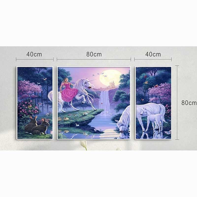 New Direct Selling Kits Needlework 3d Square 100% Full Diamond Painting Rhinestone Craft Mosaic Embroidery horse Scenery