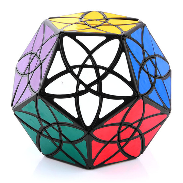 Brand New Black Bauhinia Dodecahedron Megaminx SPeed Magic Cube Puzzle Toys For Kids