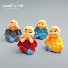 Chinese Buddhism Mini Buddhist Monks Kawaii people buddha statue resin craft