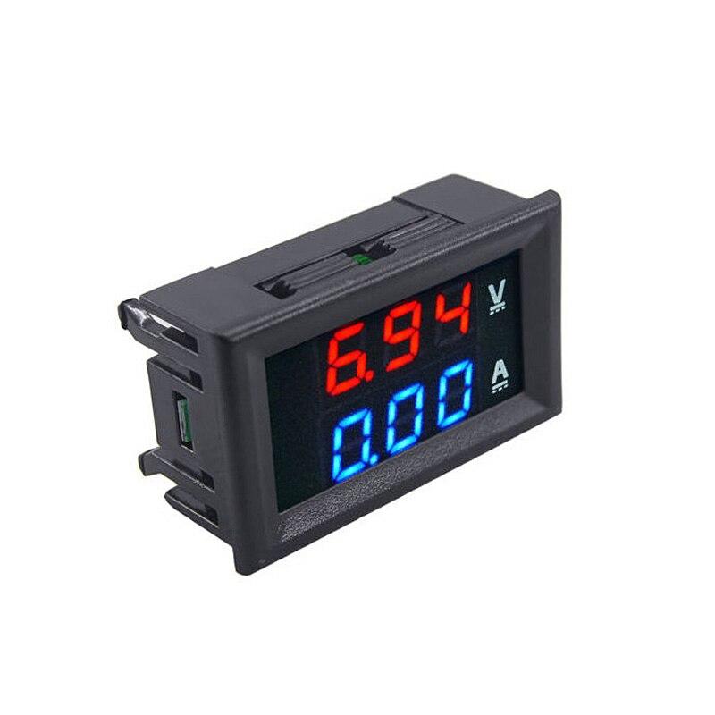 1PCS Mini Digital Voltmeter Ammeter DC 100V 10A Panel Amp Volt Voltage Current Meter Tester 0.28