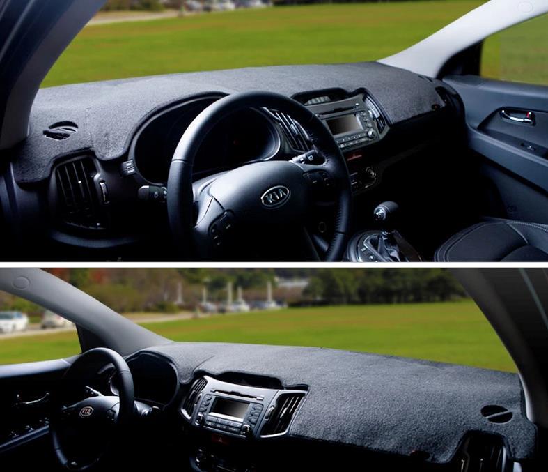 Car dashboard covers Instrument platform pad car accessories sticker for KIA sportage r sx 2005