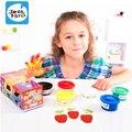 Regalo de los niños pintar con los dedos de color almohadilla de tinta de pigmento 6 colores dibujo juguetes bebé juguetes para niños aprendizaje y educación brinquedos muñeca