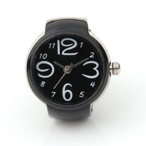 YCYS-Arabic Number Quartz Men Pocket Finger Ring Watch 0.87