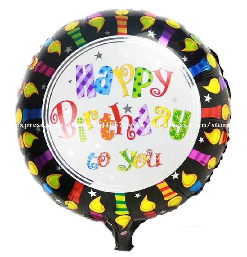 Pretty Happy birthday  balloon 50pcs/lot Helium balloon 18inch mylar balloons fo