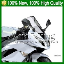 Light Smoke Windscreen For KAWASAKI NINJA ZZR-1400 ZZR 1400 ZZR1400 2006 2007 2008 2009 2010 2011 #43 Windshield Screen