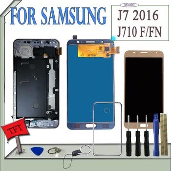 SzHAIyu testowane dobrze LCD + ekran dotykowy + rama dla Samsung Galaxy J7 2016 J710 J710F J710M J710MN J710H/ DS wyświetlacz LCD ekran