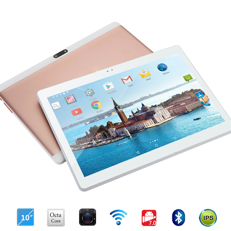 Free shipping Android 7.0 Octa Core 10 inch Tablet PC 4GB RAM 32GB ROM 5MP WIFI A-GPS 4G LTE 2.5D Tempered Glass IPS 1280*800 lnmbbs 8 inch tablet sims android 7 0 cheap tablets with free shipping lte 4g eight core 1280 800 2g ram 32g rom wifi game play