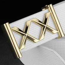 [K]Double X letter buckle Metals White designer belts for male genuine leather luxury brand Casual cinto masculino Waistband
