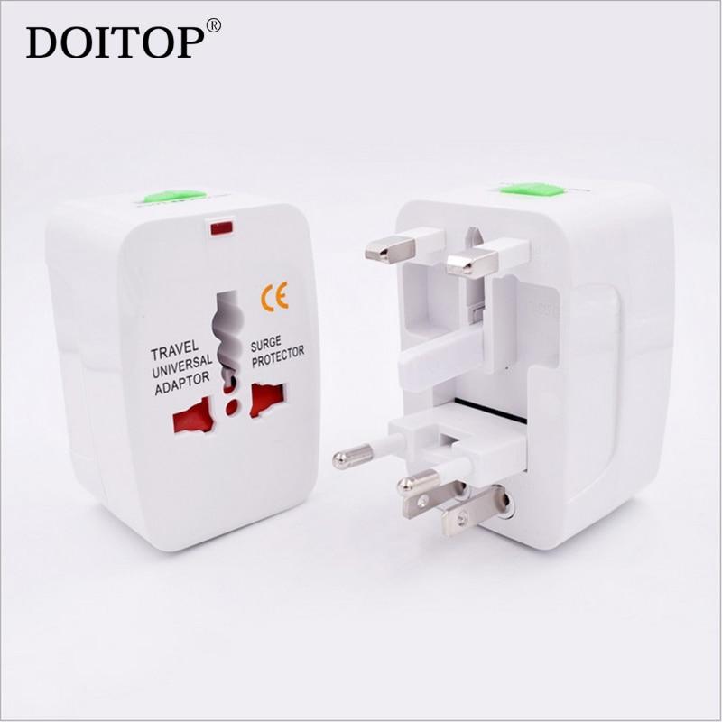 DOITOP Universal Travel Adaptor Abroad Conversion Socket Global Transformation Plug Multifunction Plug Adapter EU US AU UK Plug