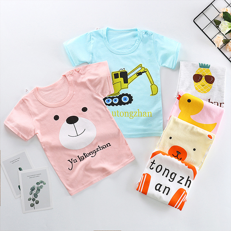 T-Shirts Short-Sleeve Toddler Tops Duck Girl Infant Baby-Boys Kids Cotton Cartoon Summer