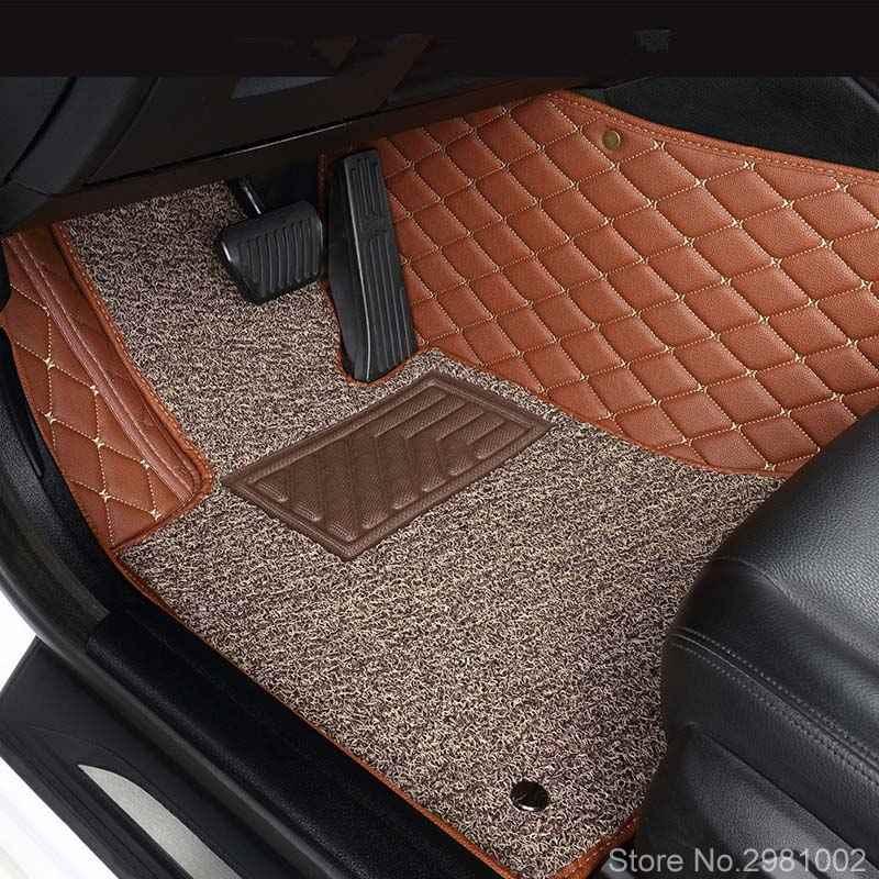 Luxe Personnalisé Tapis De Sol De Voiture pour BMW X1 F48 X3 E83 F25 G01 X4 X5 E53 E70 X6 M4 M5 M6 F10 520D F11 F36 2010 2012 201