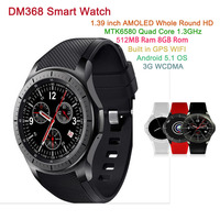 DM368 Smart Watch MTK6580 Quad Core 512MB 8GB Android 5 1 OS 1 39 Inch AMOLED