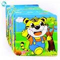 Moderno Conjunto de Dibujos Animados Bebé Rompecabezas Juguetes De Madera de Aprendizaje de Educación Juguetes Para Niños Vaca panda Rana Abeja envío libre del Erizo