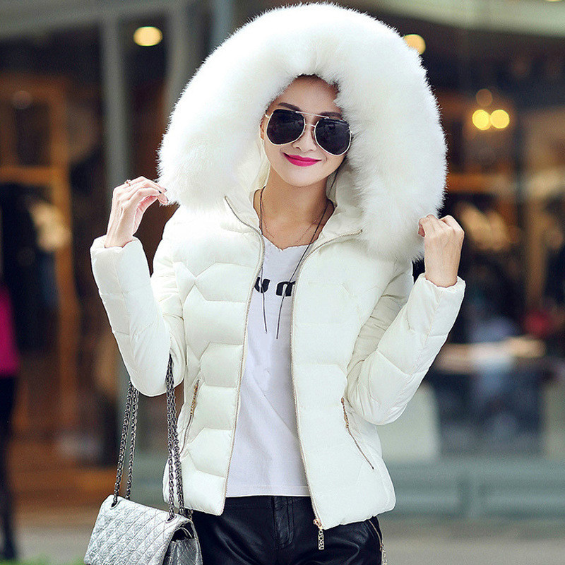 Winter Fashion Women Short Snow Coat Ladies Tops Cotton Jacket Plus Size Hooded   Parkas   Thick Warm Overcoat Female Outerwear 3xl