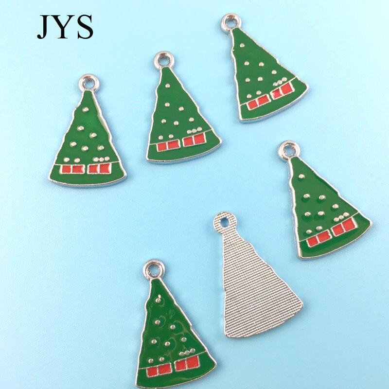 Бесплатная доставка 15*24 мм 12 шт./лот цинковый сплав Подвески рождественской елки подвески для ювелирных нахождения для колье браслет