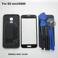 S5 mini Battery door back Cover Case For Samsung Galaxy S5 mini G800F Front touchScreen Glass Lens & Tool & adhesive
