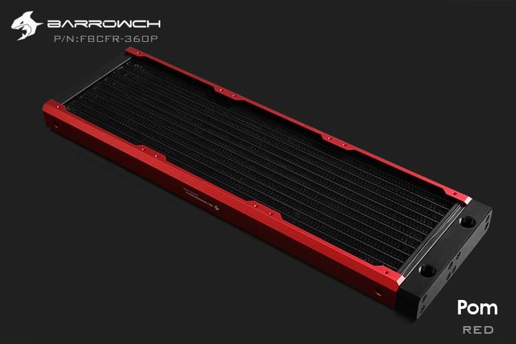 Barrowch FBCFR-360, хамелеон рыбы модульные 360 мм радиаторы, акрил/Пом съемные радиаторы, подходит для 120 мм вентиляторов - Цвет лезвия: POM-Red